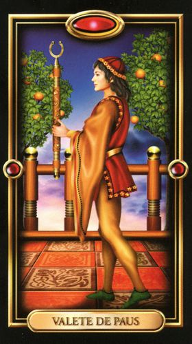 Gilded Tarot - Valete de Paus