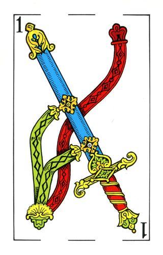 Baralho Espanhol - Ás de Espadas