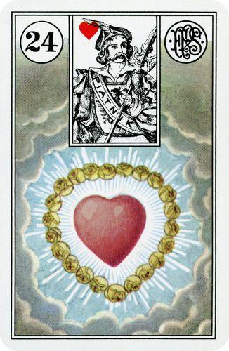 Baralho Cigano - - Carta Coração