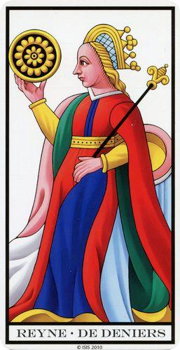 Tarot de Marselha - Rainha de Ouros