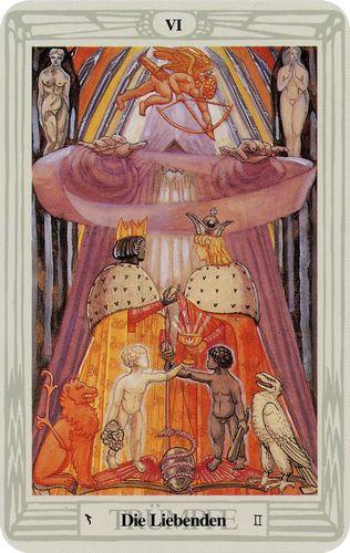 Tarot de Crowley - Enamorados
