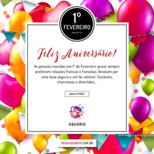 ANIVERSÁRIANTE DO DIA | 1º DE FEVEREIRO